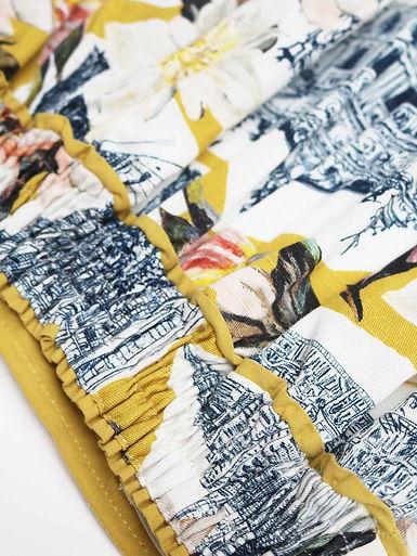 WSB5685-LEMON-YELLOW--El-Audaz-Floral-Printed-Tencel-Organic-Cotton-Full-Skirt-in-Lemon-Ye