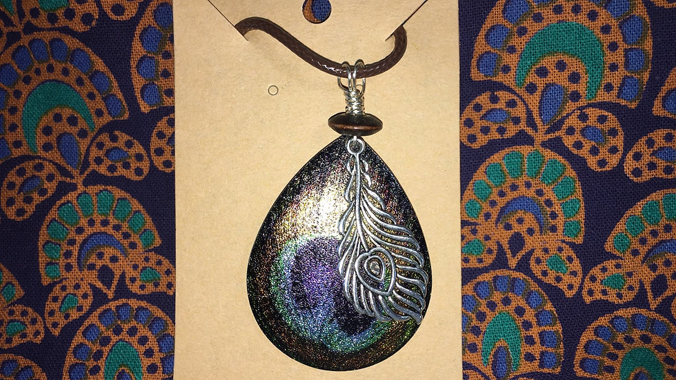 Peacock Silver & Wood