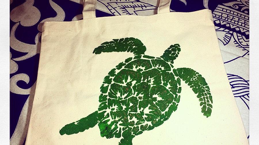 Sea Turtle Canvas Tote