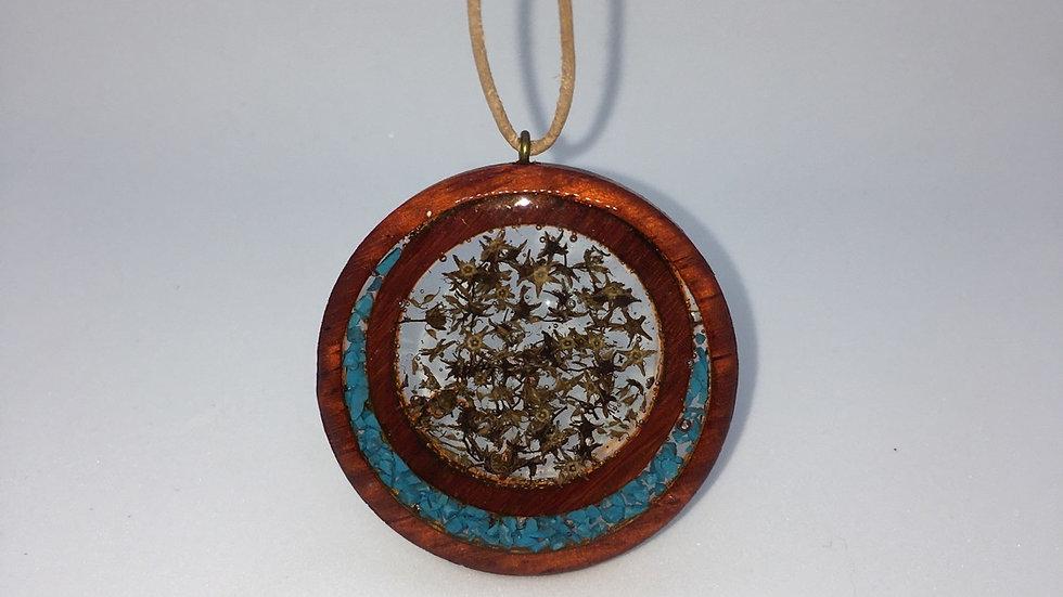 Wooden Seed & Stones Pendant