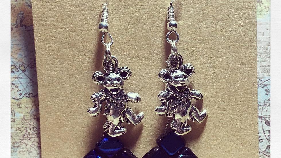 Dancing Bears Metallic Blue