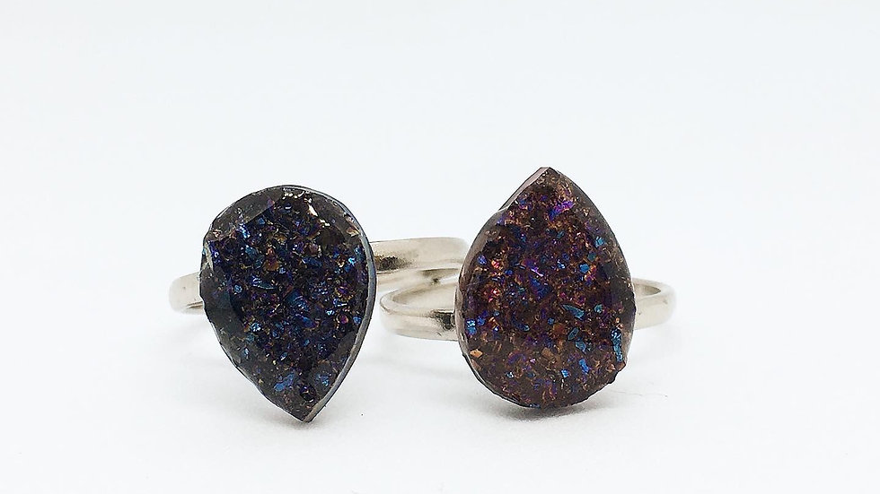 Dreamy Druzy Rings