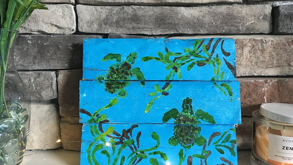 Handpainted Wood Art - Turtle