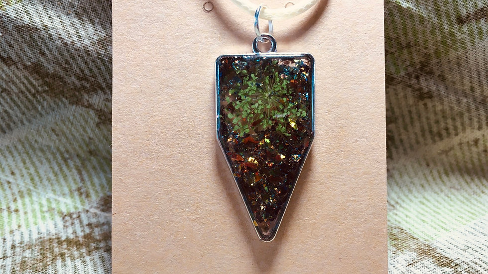 Green Floral & Sparkle