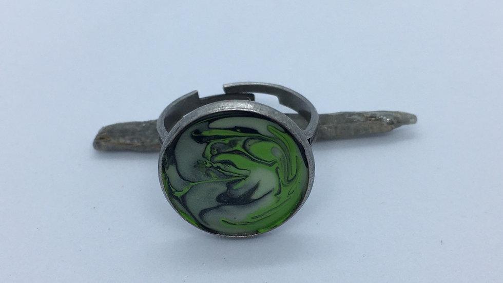 Handpainted Marbel Ring