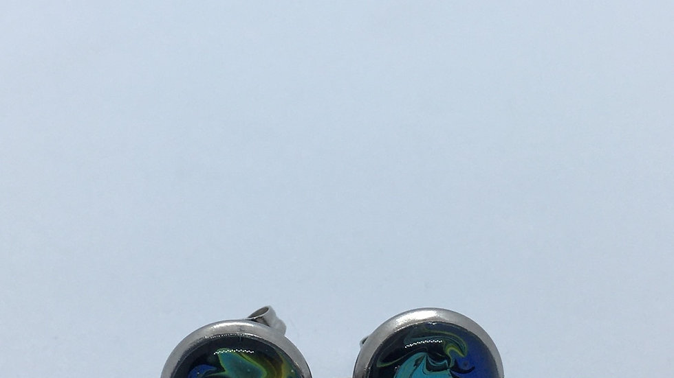 Handpainted Marbel Studs (Multiple Choices)