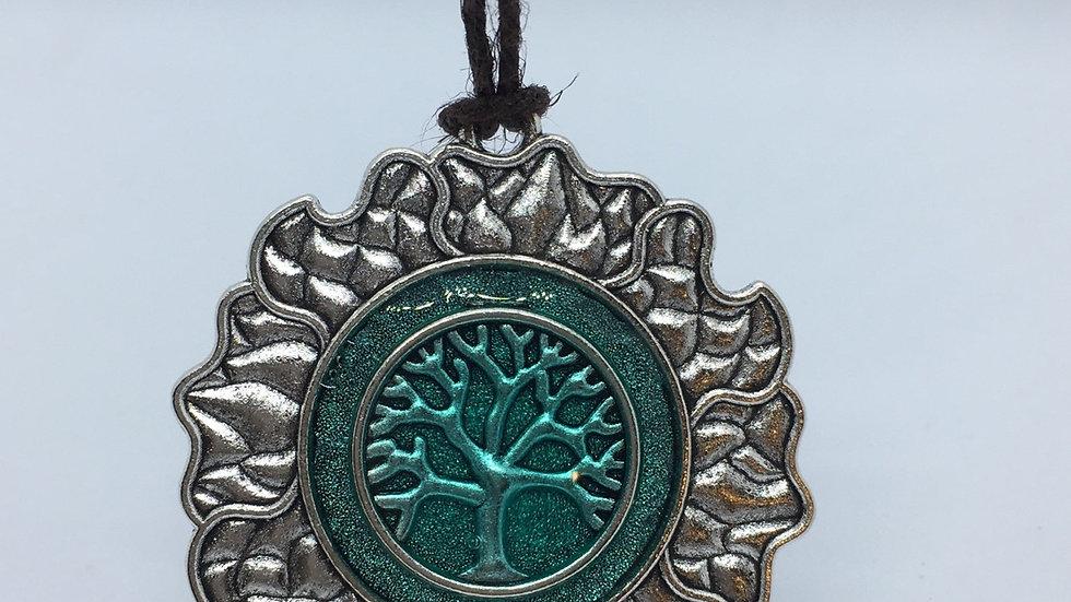 Sun & Tree Pendant