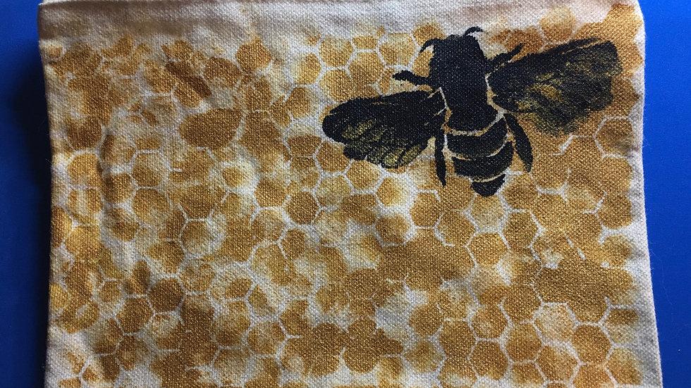 Honeybee Small Canvas Zippered Bag
