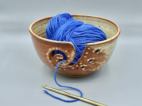 Creamy Orange Yarn Bowl