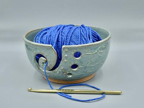 Light Teal Yarn Bowl