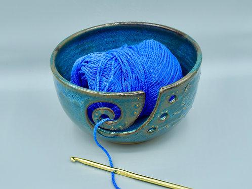 Blue Green Yarn Bowl