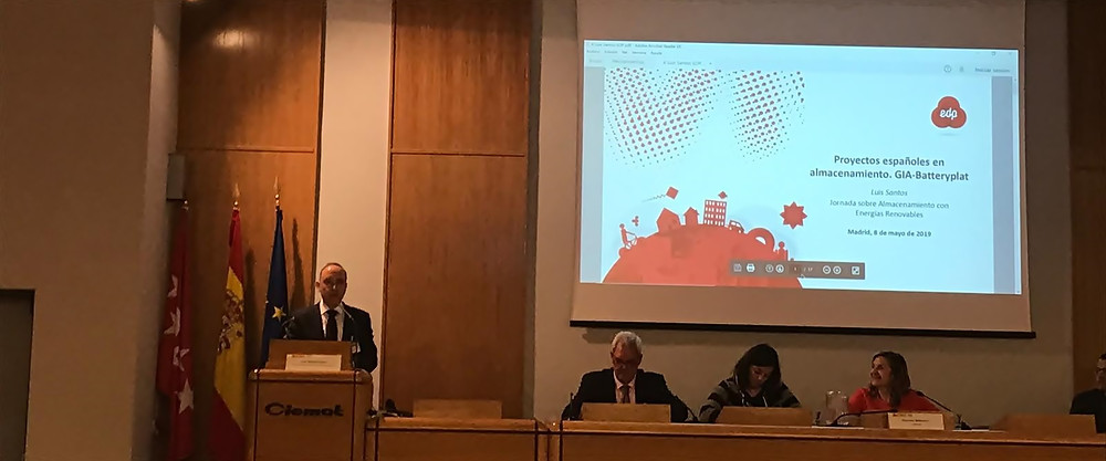 Luis Santos de EDP presenta BatteryPlat