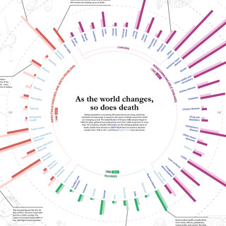 Changing Causes of Death, 1990 and 2016