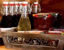 Hofladen-Flaschen