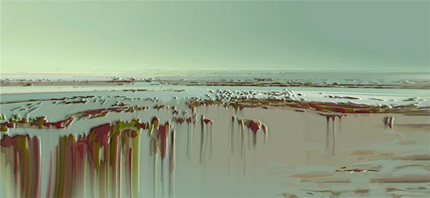 Melting, 2009, 30 x 65 cm, Ed. of 8, Digital painting