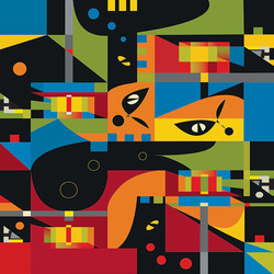 Modernity No.1, 2007, 56.5 x 56.5 cm,  Ed. of 10, Digital painting