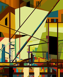 Reconstructed 2, 2011, 60 x 49 cm, Ed. of 5, Digital painting