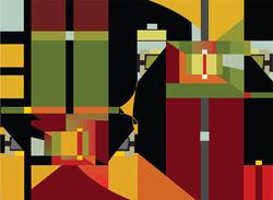 Modern Living1, 2007, 77 x 56.5 cm, Ed. of 10, Digital painting
