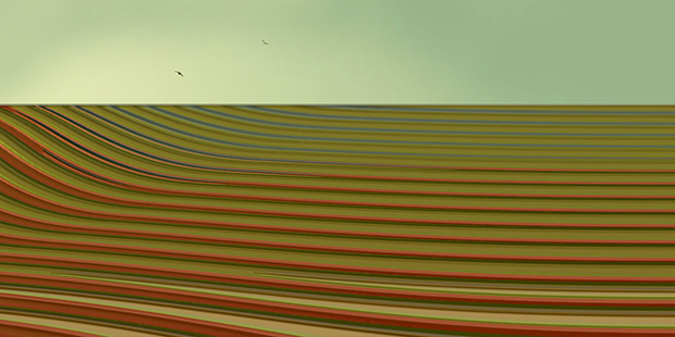Broad Acre Destruction, 2012, 35 x 70 cm, Ed. of 5, Digital painting