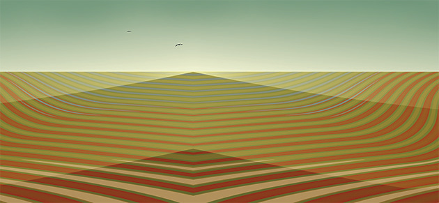 Encroaching Desert, 2008, 30 x 65 cm, Ed. of 8, Digital paintig