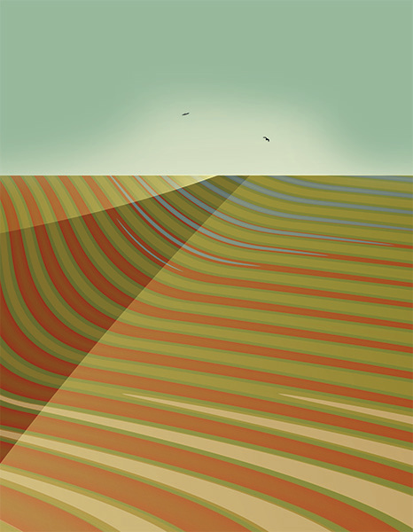 Encroaching Desert, 2009, 58 x 45 cm, Ed. of 8, Digital painting