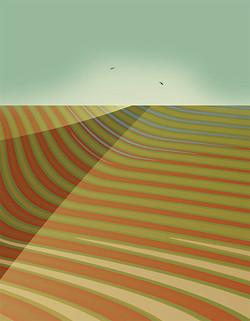 Encroaching Desert, 2009, 58 x 45 cm, Ed. of 8, Digital painting
