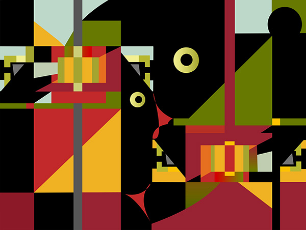 Modern Living 4, 2007, 75 x 56.5 cm, Ed. of 10, Digital painting