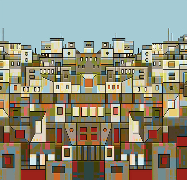 Building Blocks, 2008,  50 x 50 cm, Ed. of 8, Digital painting