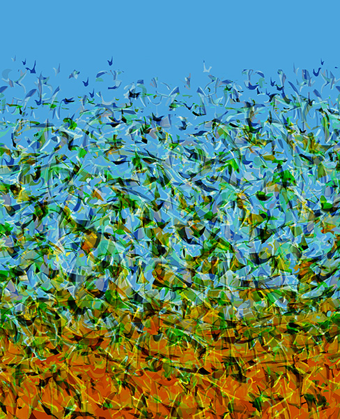 Migrating , 2010,  48 x 39 cm.  Ed. of 7, Digital painting