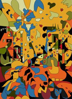 Encroaching 2, 2007, 77.5 x 55.5 cm, Ed. of 10, Digital painting