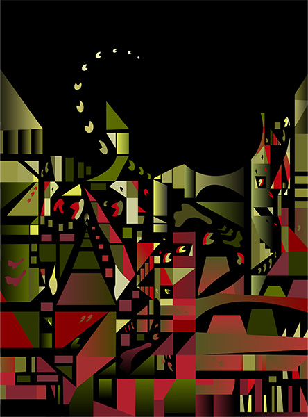 Inner  Machinations 2, 2007, 75.5  x 55.5 cm, Ed. of 8, Digital painting