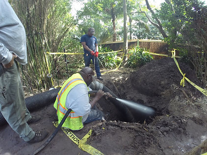 slot trenching with hydro excavation