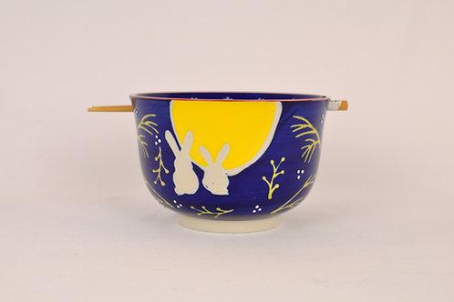 Bunny Ramen Bowl w/ Chopsticks