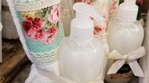 T22 - Sets de toalla y shampoo cremoso
