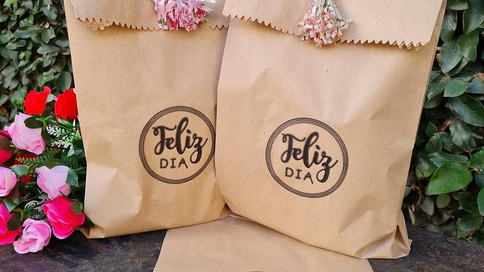 Especial día de la madre: 20 Bolsas papel Feliz día de regalo con tu compra