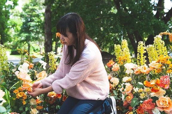 garden style floral backdrop