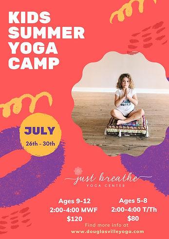 Just Breathe Yoga Kids Summer Camp
