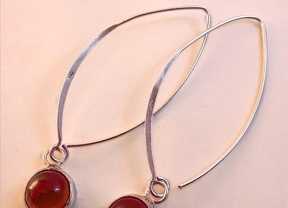 Orange Spessartine Garnet Earrings