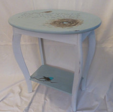 Small Oval Table with shelf