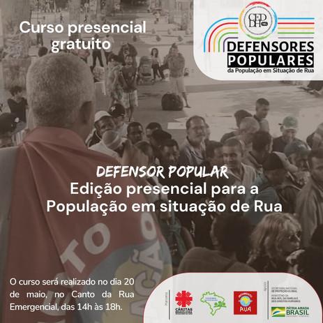 Curso de Defensores da População em Situação de Rua presencial