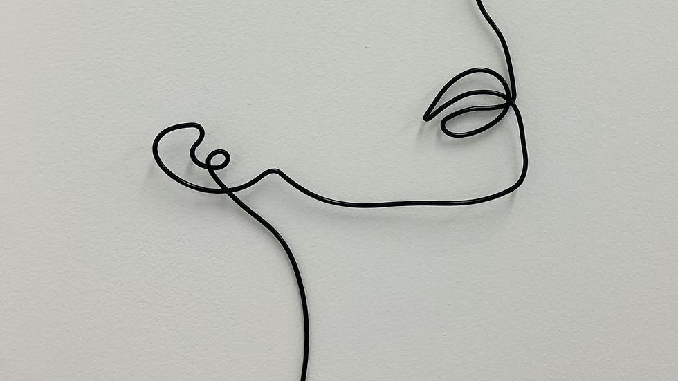 Wire Wall Art Girl