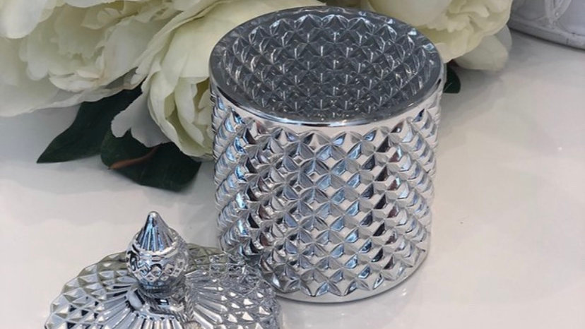 Electroplated Silver jar