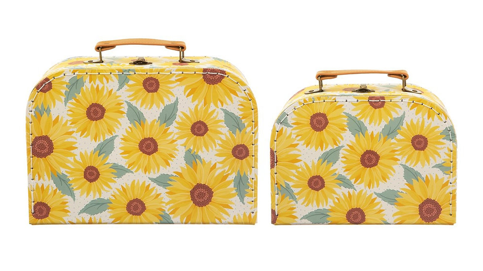 Set of 2 Sunflower Storage Cases