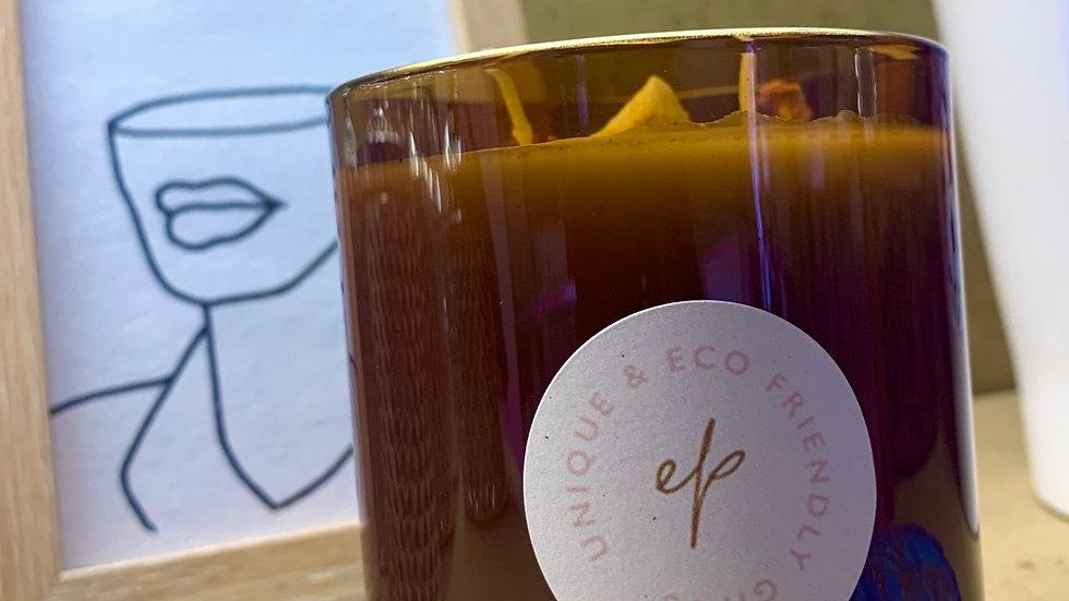 Burnt Amber Glass Jar 300ml