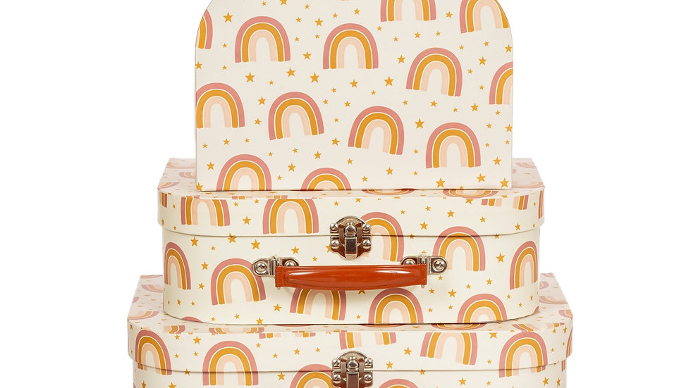 EARTH RAINBOW SUITCASES - SET OF 3