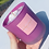 Thumbnail: Pink Frosted Glass Jar