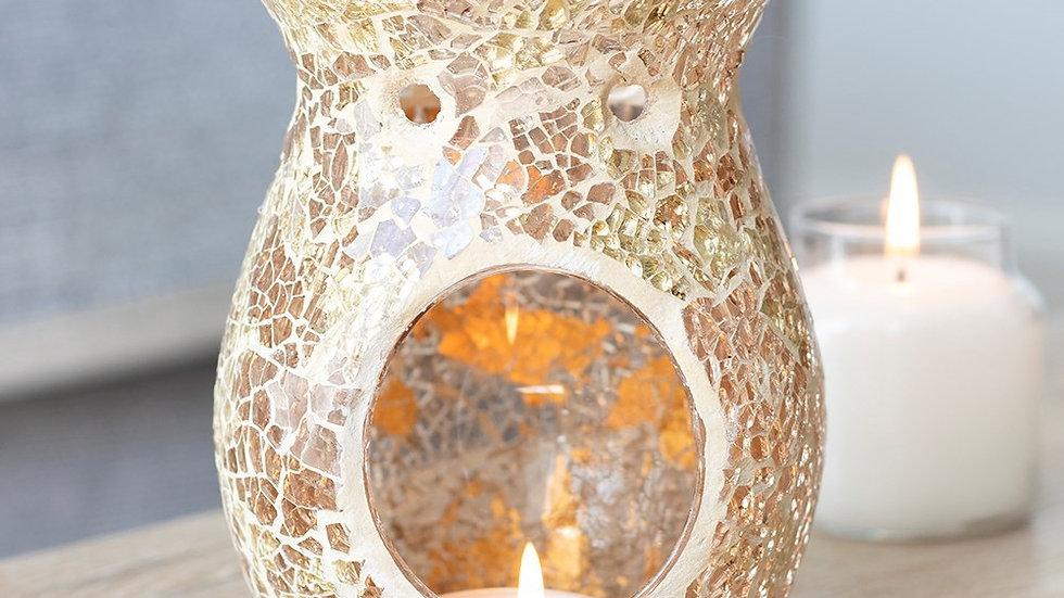 Large Gold Crackle Burner