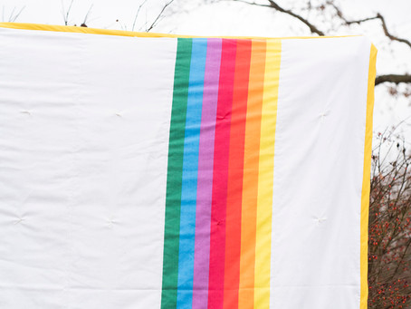Rainbow Wholecloth Quilt