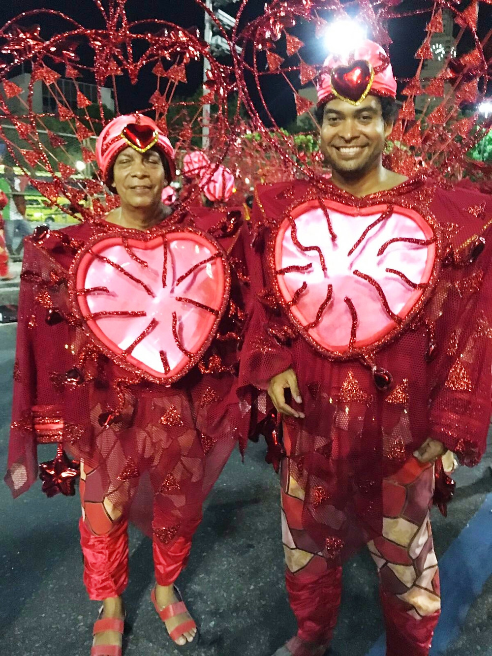 My dad and me, right before starting the Carnaval Parade 2017