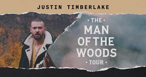 Justin Timberlake Bringing 'The Man of the Woods Tour' to Philips Arena on Thursday, Jan. 10, 2019